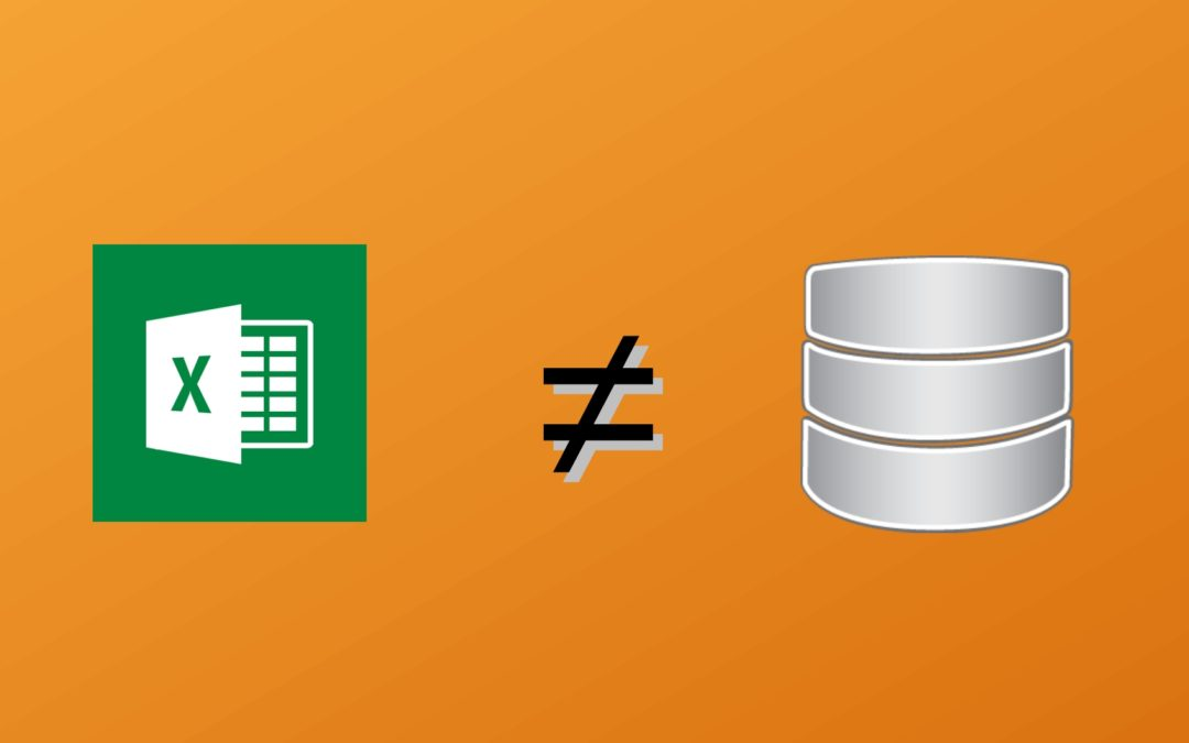 An Excel spreadsheet is not a process, a DB table can be it – Part I